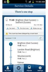 National Rail Android app